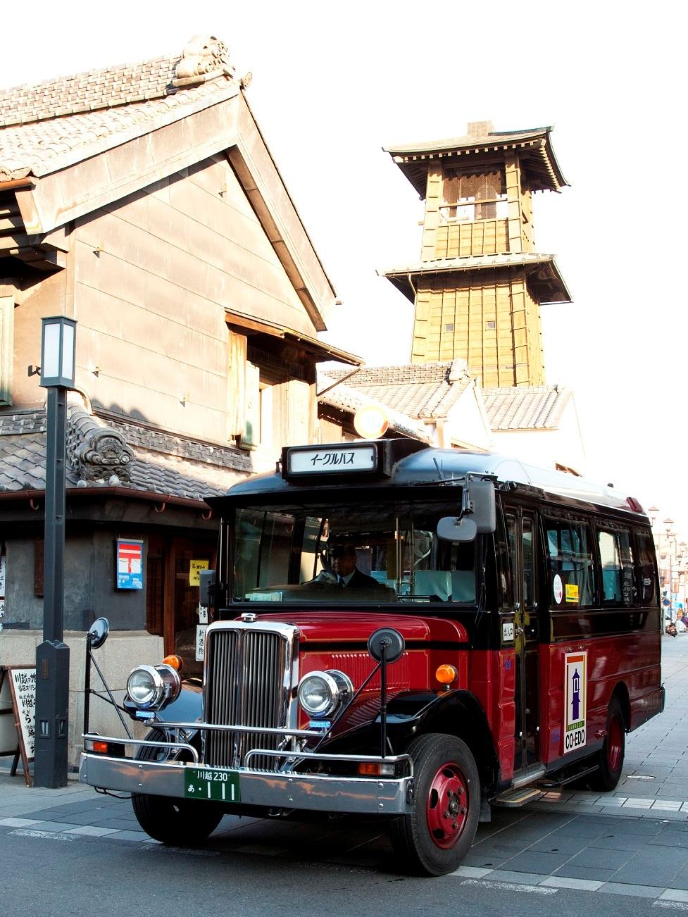 川越の街を走る小江戸巡回バス